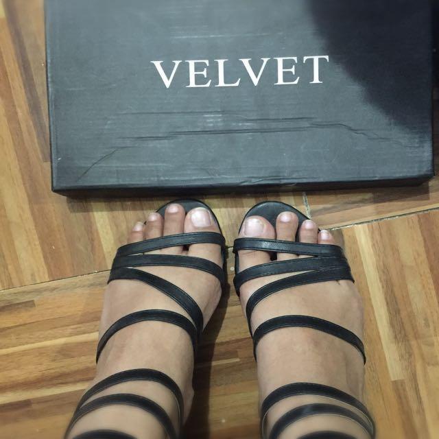 Gladiator sandals from velvet Size 8