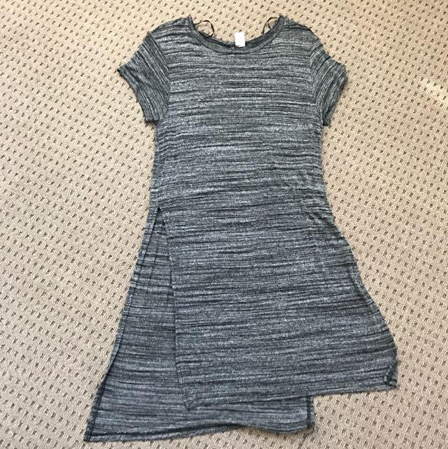H & M T-shirt Dress With Slit On Both Sides