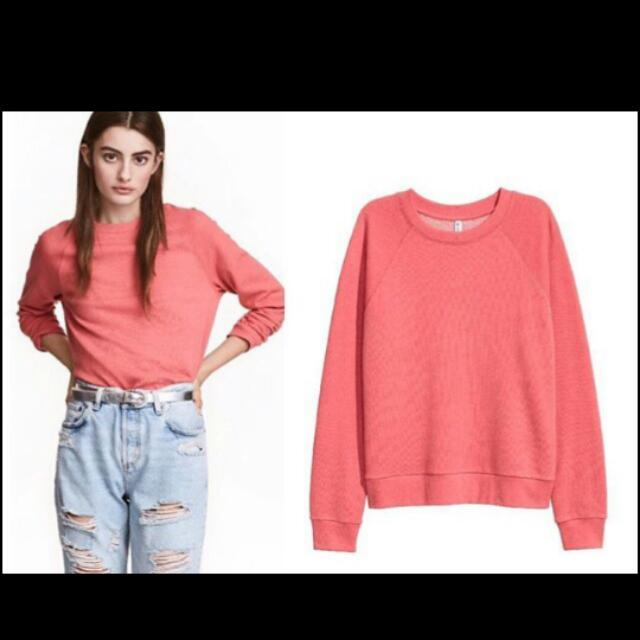 H&M Sweatshirt Salmon