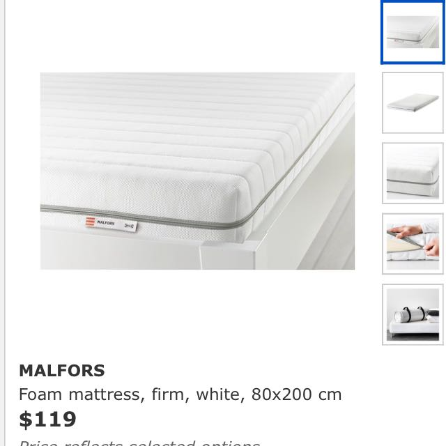 reputable site 80e93 044a5 IKEA MALFORS single Bed Mattress, Furniture, Beds ...