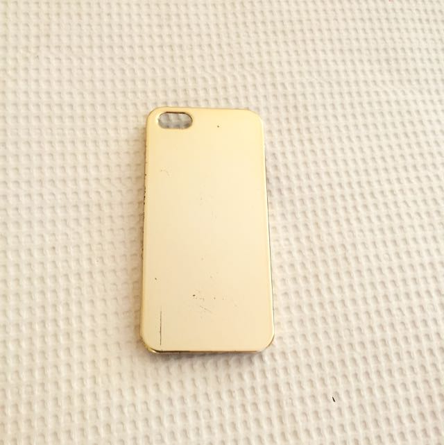 iPhone5 Gold Reflective Case