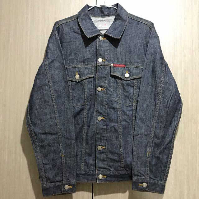 古著/Lee Cooper黑藍色重磅厚磅長袖牛仔外套