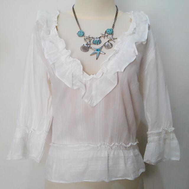 Lucca White Lace Shirt Or Outer