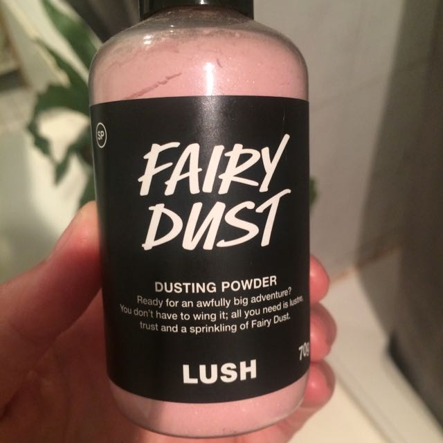 LUSH Dusting Powder and Lip Scrub