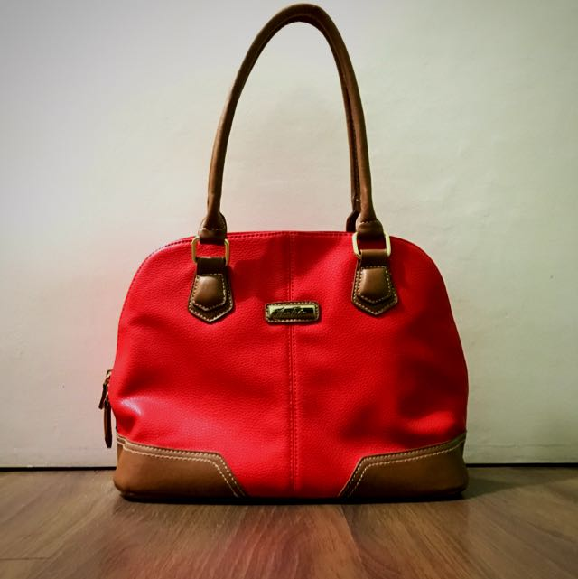 REPRICED Marc Fisher Red Park Ave Dome Satchel