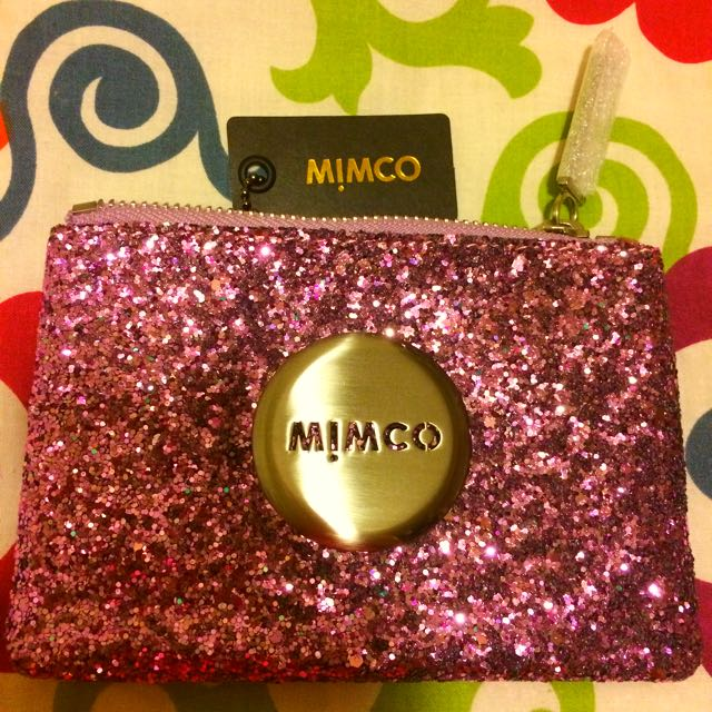 Mimco Amethyst Tiny Sparks Hologram Pouch