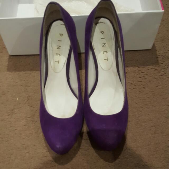 Mollini Purple Suede Pumps Size 6