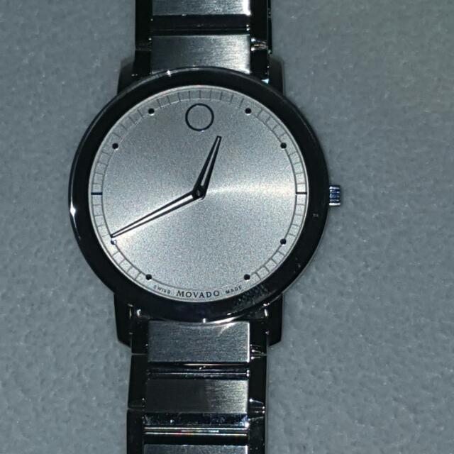 Movado Swiss Sapphire Stainless Steel Watch