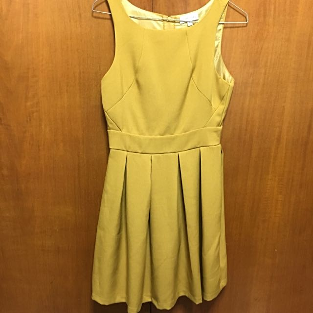 Mustard Coloured Summer Dress