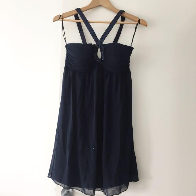 NEW Dotti Navy Party Dress