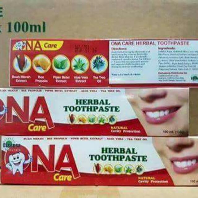 ONA Toothpaste (No SLS, No PARABENS, No FLOURIDE)