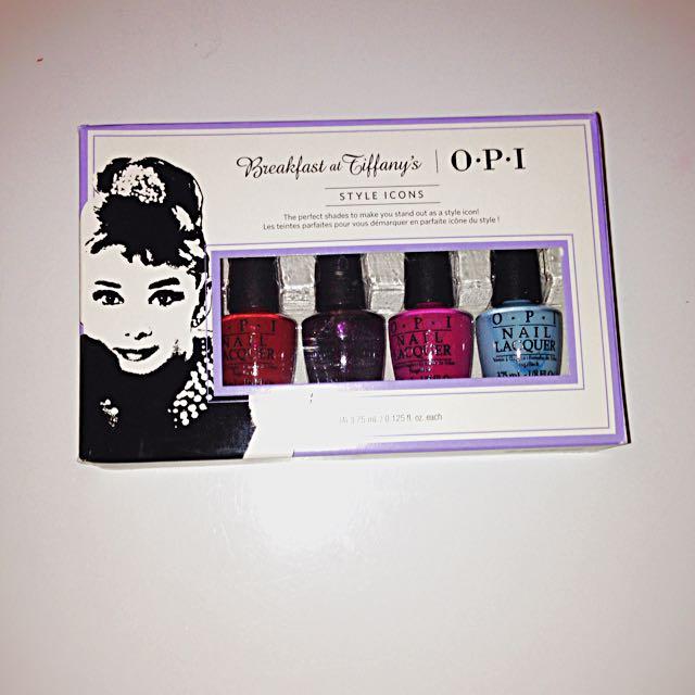 OPI Breakfast at Tiffany's Nail Polish Set