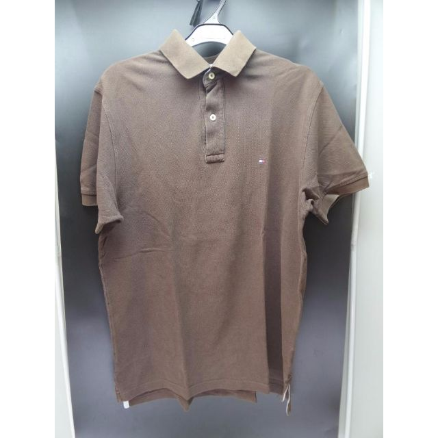Polo Shirt Tommy Hillfigher Original Coklat Tua