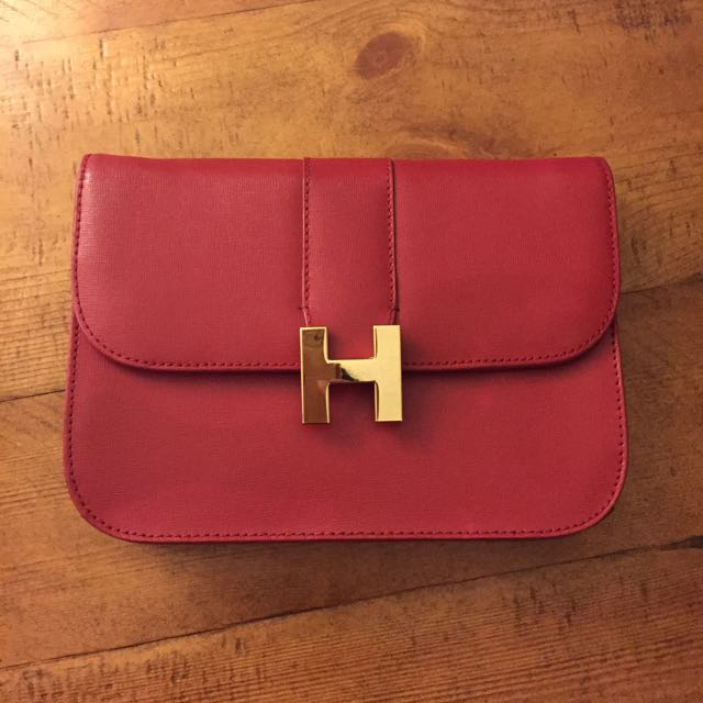 Red Burgundy Gold Chain Purse from CWonder