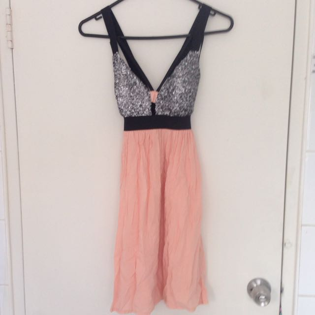 REVERSE Peach Party Dress