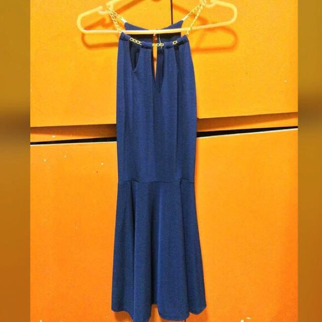 Royal Blue Halter Dress