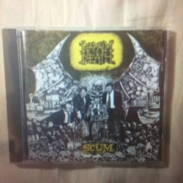 """SCUM"" By Napalm Death CD"