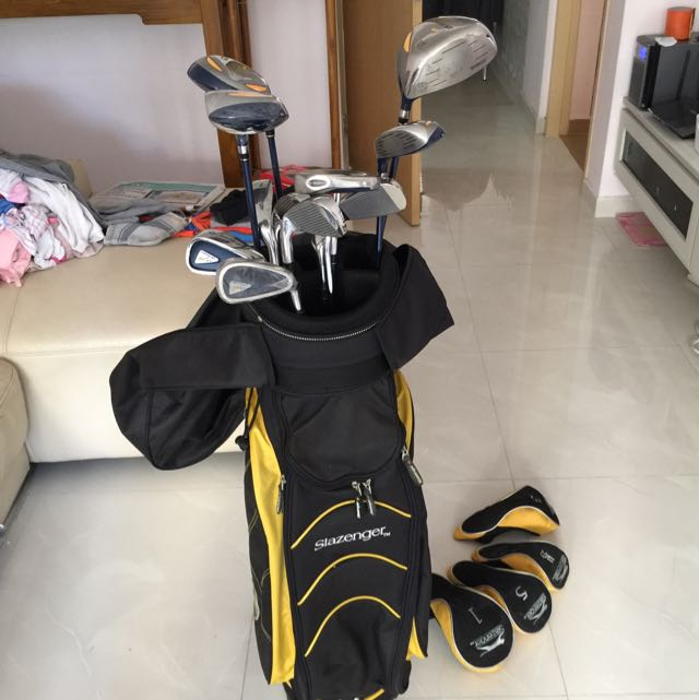 12db83aae8 Slazenger Golf set With bag (10% Off If Deal By 25 Jan), Sports, Sports &  Games Equipment on Carousell