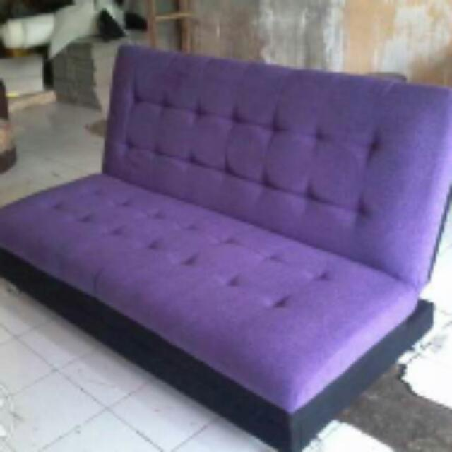 Sofa Bed Ungu Kain Baldu Home Furniture On Carousell