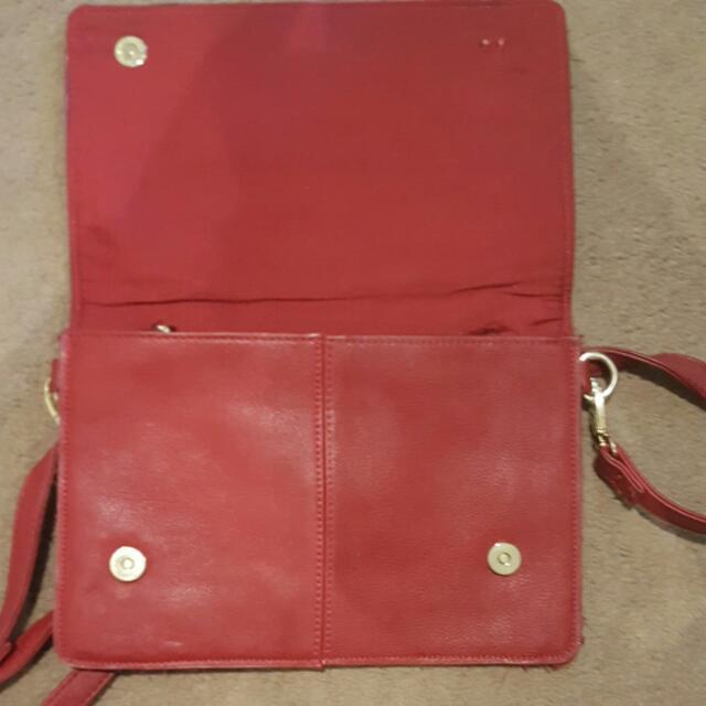 Sportsgirl Burgundy Handbag
