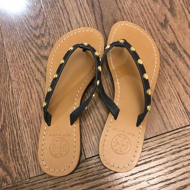 Tory Burch leather flip flop