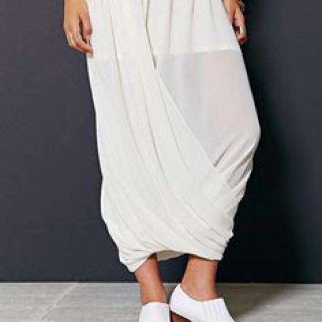 twist wrap maxi skirt