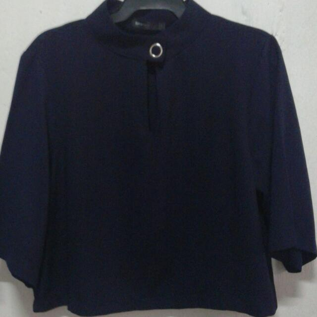 repriced UNAROSA blue cropped top