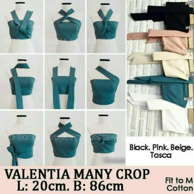 VALENTIA CROP BLACK