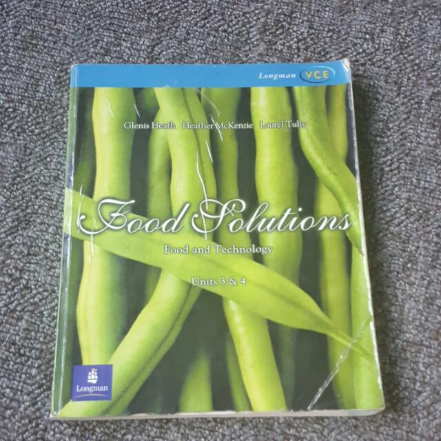 VCE Food Technology 2001