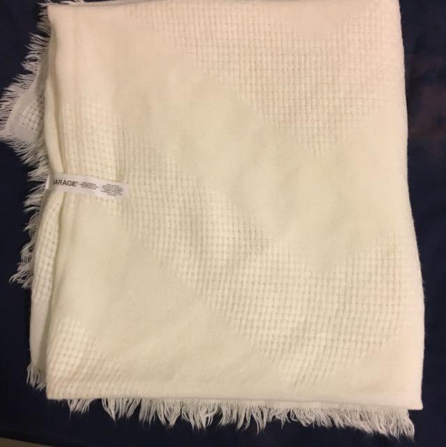 White Blanket Garage Scarf