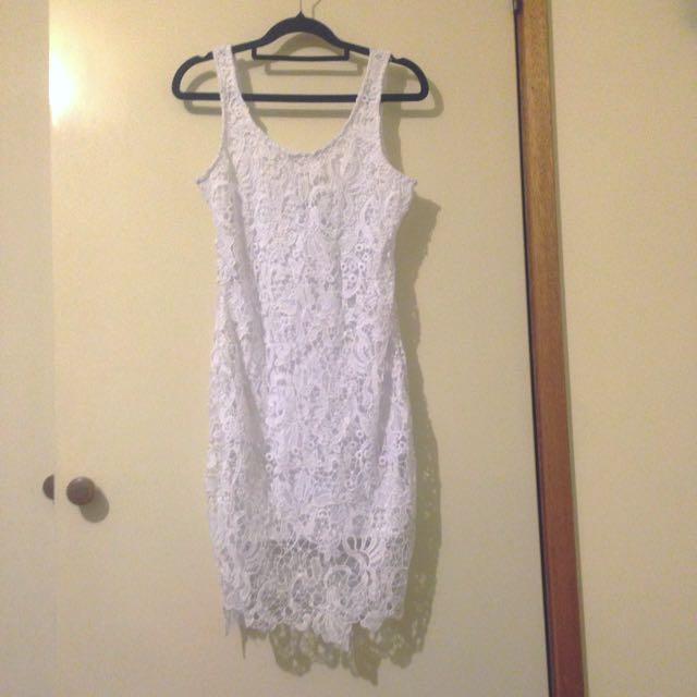 White Lace Dress Sz8