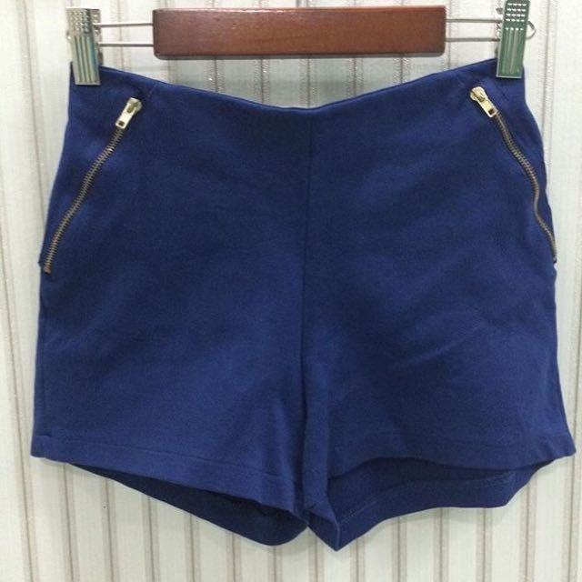Zara Blue Highwaist Short