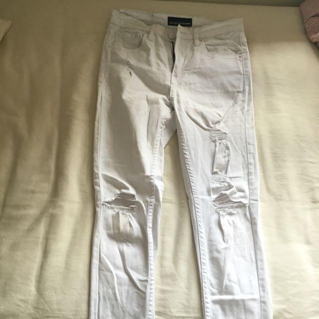 Ziggy White Denim Jeans