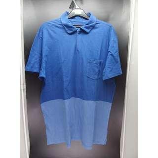 Polo Shirt GAP Original Motif Blue #ManPreloved