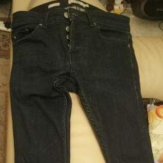 Topman jeans stretch skinny 28r (dark blue)