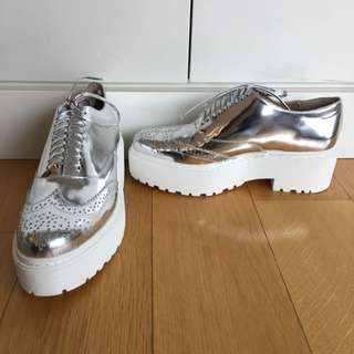 Jeffery Campbell Silver Shoes