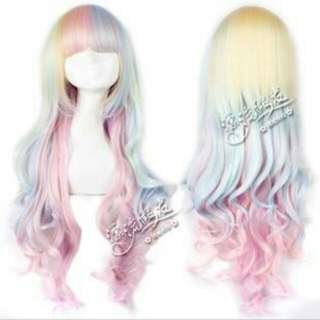 Rainbow Lolita Princess Cosplay Wig