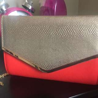 BRAND NEW Colette Clutch Bag With Gold Chain