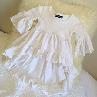 White Cotton Boho Chick Top