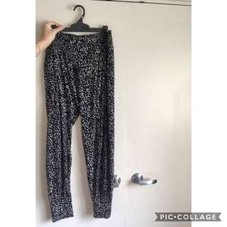 Black And White Flowing Or Pyjama Pants