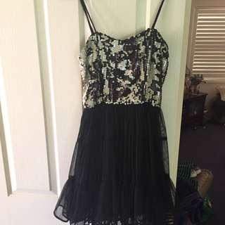 Piper Lane Black Cocktail Dress Size 8