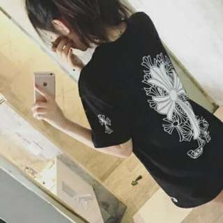 (Instock from po) Chrome hearts inspired oversized t shirt