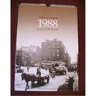 1988 Calendar 'Streets of Liverpool' - Historical Photographs from the early 1900's