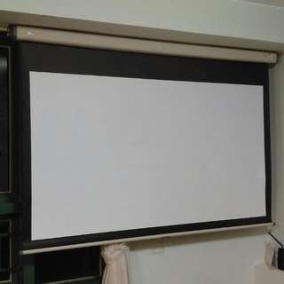 80' OS Projector Screen 手動幕