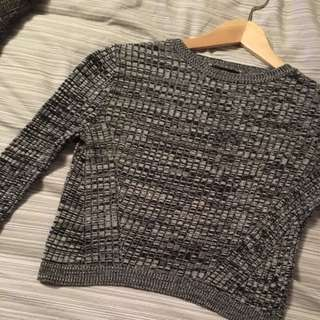 Top Shop Grey Crop Sweater Size 4