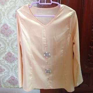 Peach Tops With Beads