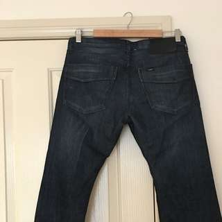 LEE Denim Straight Leg Jeans, Men's Size 32 Waist, Dark Blue. PRCE REDUCED