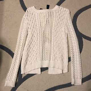 Bethany Mota Open-Back Knit Sweater