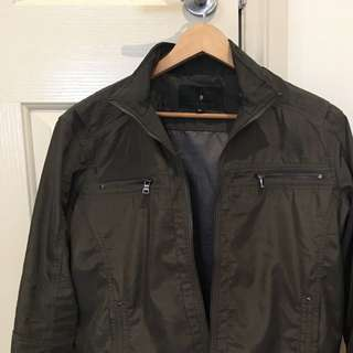 Mens Jacket, Size M, Army Green
