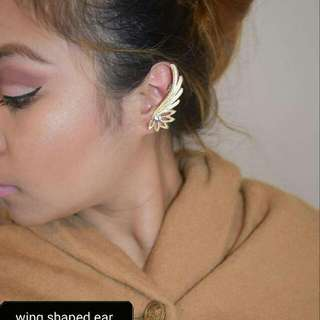 gold wing shaped ear cuff